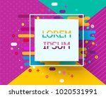 trendy neon geometric figures... | Shutterstock .eps vector #1020531991
