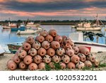 traditional octopus traps in... | Shutterstock . vector #1020532201