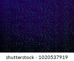 binary code digital technology. ... | Shutterstock .eps vector #1020537919