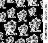 exotic seamless pattern ... | Shutterstock .eps vector #1020540589