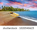 traditional wooden fishing boat ... | Shutterstock . vector #1020540625