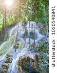 jamaica. small waterfalls in... | Shutterstock . vector #1020540841