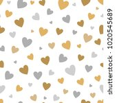 beautiful seamless pattern with ... | Shutterstock . vector #1020545689