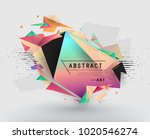 colorful abstract design.... | Shutterstock .eps vector #1020546274