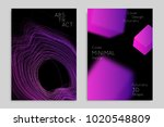 abstract banner template with... | Shutterstock .eps vector #1020548809