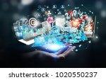 businessman on blurred...   Shutterstock . vector #1020550237