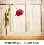 Wilted Tulip Grunge Overlay ...