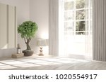 white empty room with home... | Shutterstock . vector #1020554917