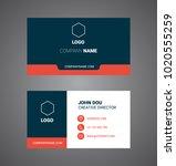 business card. vector. modern... | Shutterstock .eps vector #1020555259