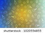 light blue  yellow vector... | Shutterstock .eps vector #1020556855