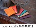handmade leather wallets are a... | Shutterstock . vector #1020575191