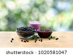 bowl with ripe berries wild... | Shutterstock . vector #1020581047