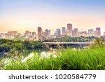 edmonton downtown after sunset  ...   Shutterstock . vector #1020584779