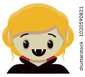 vector cute female vampire... | Shutterstock .eps vector #1020590821