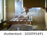 metalworking cnc milling... | Shutterstock . vector #1020591691