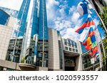brussels  belgium   may 20 ... | Shutterstock . vector #1020593557