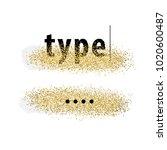 brush strokes with golden... | Shutterstock .eps vector #1020600487