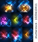 set of abstract backgrounds  ... | Shutterstock .eps vector #1020610411