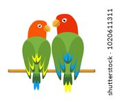 icon of a sitting parrot.... | Shutterstock .eps vector #1020611311