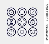 clock icon vector. time icon... | Shutterstock .eps vector #1020611527