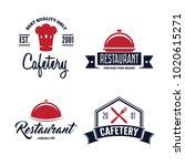 set of restaurant shop design... | Shutterstock .eps vector #1020615271