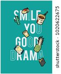 patch and slogan print | Shutterstock .eps vector #1020622675