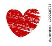 red vector heart isolated on... | Shutterstock .eps vector #1020625735