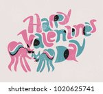 retro style funny vintage... | Shutterstock .eps vector #1020625741