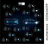 futuristic user interface. hud... | Shutterstock .eps vector #1020626059