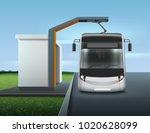 vector illustration of modern... | Shutterstock .eps vector #1020628099