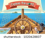 explore the world with sailing... | Shutterstock .eps vector #1020628837