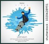 skateboarder jump  sport... | Shutterstock .eps vector #1020628951