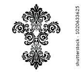 oriental pattern with... | Shutterstock .eps vector #1020633625