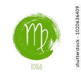 green round virgo horoscope... | Shutterstock .eps vector #1020636409