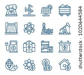 set of energy sources icons....   Shutterstock .eps vector #1020644584