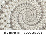 pearls and diamonds jewels... | Shutterstock . vector #1020651001