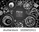 breakfasts and brunches top... | Shutterstock .eps vector #1020652411