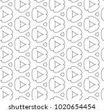 seamless ornamental vector... | Shutterstock .eps vector #1020654454