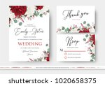 wedding floral invite  save the ... | Shutterstock .eps vector #1020658375