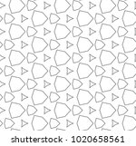 seamless ornamental vector... | Shutterstock .eps vector #1020658561