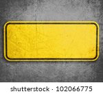 empty yellow sign  attention... | Shutterstock . vector #102066775