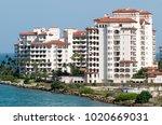 fisher island residential... | Shutterstock . vector #1020669031