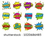 retro colorful comic speech... | Shutterstock . vector #1020686485