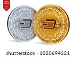 dash. crypto currency. 3d... | Shutterstock .eps vector #1020694321