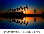 the oil pump  industrial... | Shutterstock . vector #1020701791