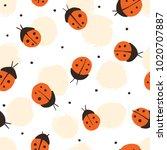 hand drawn. seamless pattern... | Shutterstock .eps vector #1020707887