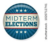 retro midterm elections vote  ... | Shutterstock .eps vector #1020712741