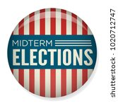 retro midterm elections vote  ... | Shutterstock .eps vector #1020712747