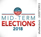 midterm election header banner... | Shutterstock .eps vector #1020713011
