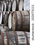 Stacked Whisky Barrels  Ben...